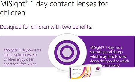 MiSight Daily Lenses for Myopia
